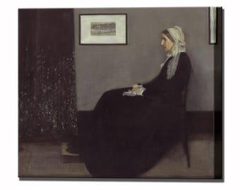 Whistler's Mother Canvas Print Fine Art Whistler American Artist Ready to Hang Home Decor