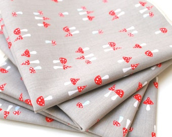 FREE OFFER Reusable ORGANIC Cloth Napkins - Set of 4- Monaluna Fox Hollow Shroomy