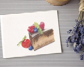 Postcard: Cake