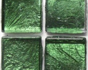 "15mm (3/5"") Moss Olive Green Metallic Foil Backed Glass Mosaic Tiles//Metallic//Mosaic//Mosaic Supplies"