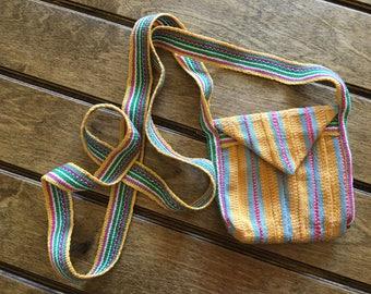 Handwoven, hand sewn small purse