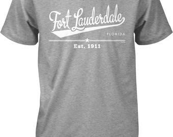 Fort Lauderdale, Florida, Est. 1911 Men's T-shirt, NOFO_01170
