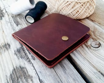 Mens wallet, leather wallet, minimalist wallet, mens leather wallet, brown wallet, clip wallet, card holder, slim wallet, small wallet