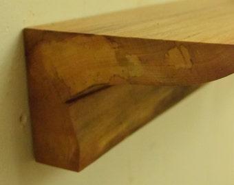 No. 52 - Thick Elm Floating Shelf