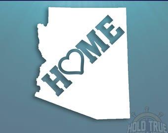 Arizona Decal - PICK COLOR and SIZE - Arizona Home Decal - Arizona Car Decal - Arizona sticker - Arizona car sticker - Arizona window Decal