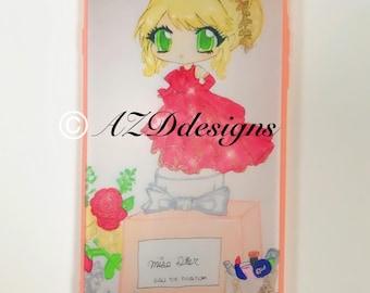 iPhone 6 Plus inspired fashion illustration kawaii chibi phone case
