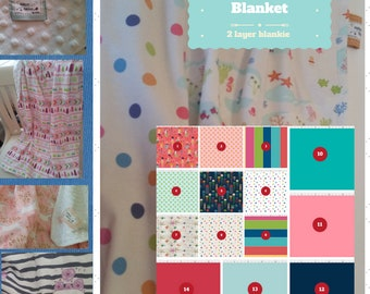 Toddler / Baby Blanket - Seaside Fun - Mermaids, Starfish, Jelly- organic cotton, minky blanket, 24x32 Newborn, 32x50 Toddler Kids Blanket