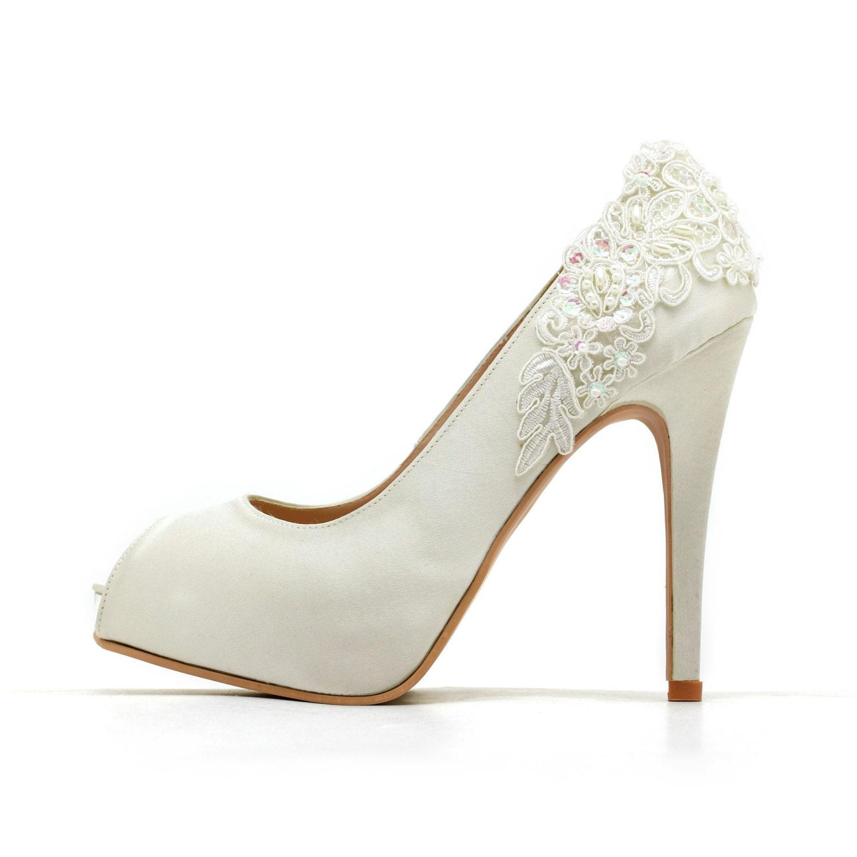 Ivory White Wedding ShoesIvory Bridal HeelsIvory