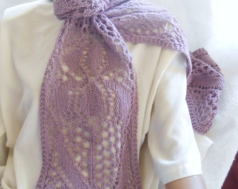 oversized scarf, merino and silk, lavender iris scarf, gift for her, spring long scarf, luxurious accessory, unique scarf, orchid mauve,