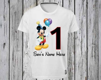 Mickey Mouse Number Birthday Iron Tshirt Design FILE ONLY Mickey Mouse birthday-Mickey Mouse Disney- Disney Birthday- Happy Birthday