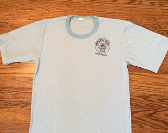 Vintage 70's/80's super soft and thin mens or women's jr lifeguard tshirt. Size large