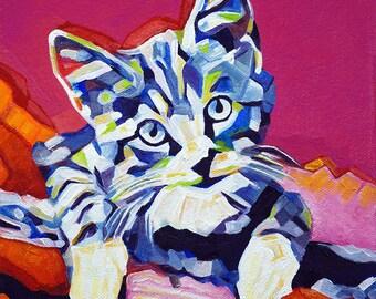 Pop Art Kitten 1 Abstract Prints - Museum Quality Fine Art Giclée Prints