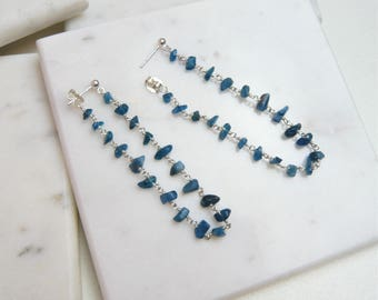 Apatite Chain Loop Earrings