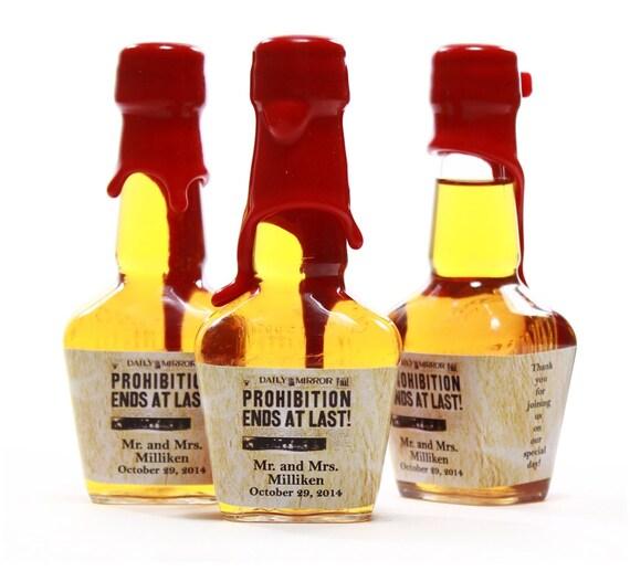 Custom Mini Bottle Labels Wedding Favors Maker\'s Mark