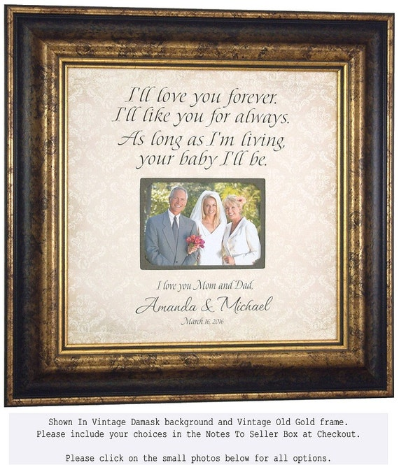 Parents Personalized Picture Frame, I\'ll Love You Forever, Wedding ...