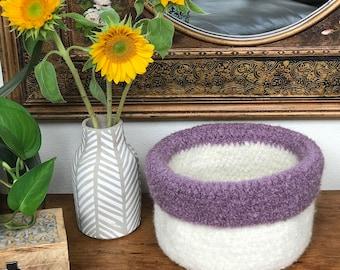Crochet Storage Baskets Pattern - EASY CROCHET PATTERN - Nesting Baskets - Felted Basket - Crochet Patterns by Deborah O'Leary