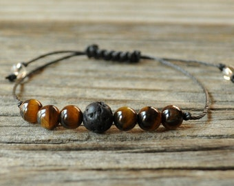 Diffuser Bracelet, Tiger Eye Bracelet, Beaded Diffuser, Essential Oils, Oil Diffuser, Yoga Bracelet, Meditation Bracelet, Healing Bracelet