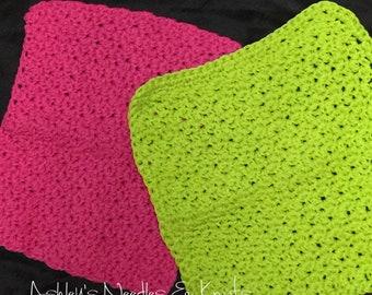 Cotton Dishcloths, crochet dishcloths, cleaning cloth, crochet washcloth, eco-friendly cleaning cloth