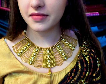 Indian Jewelry, Indian Choker Necklace Set, Kundan Necklace, Kundan Earrings, Indian Wedding Jewelry, Indian Bridal Jewelry, Bollywood