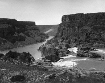 Twin Falls, Idaho - Aerial View of Snake River Canyon (Art Prints available in multiple sizes)