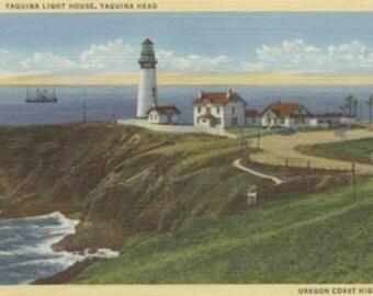 Yaquina Light House on Yaquina Head, Oregon Coast (Art Prints available in multiple sizes)