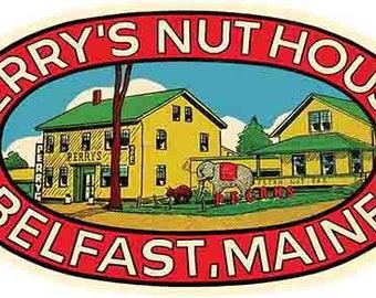 Vintage Style Belfast   Maine  Travel Decal sticker