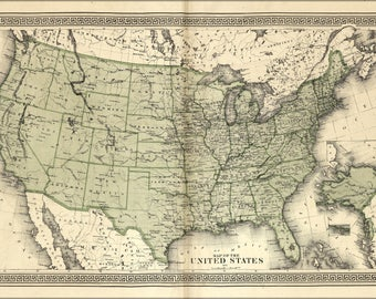 Poster, Many Sizes Available; Map Of The United States Of America 1877 P2