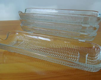 Clear Glass Corn on the Cob Plates