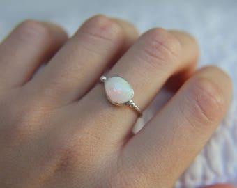 US Size 6 · Ethiopian Welo Opal Ring · Sterling Silver Ring · Ethiopian Opal Ring · Handmade Ring · Ethiopian Welo Opal · Ethiopian Opal
