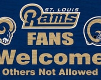 Saint Louis Rams NFL Welcome Sign/Wreath Supplies/NFL Football Sign/Sports Sign/FCFWSRAMS