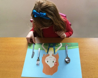 Girls' Placemat-Julie: Perfect for Travel!