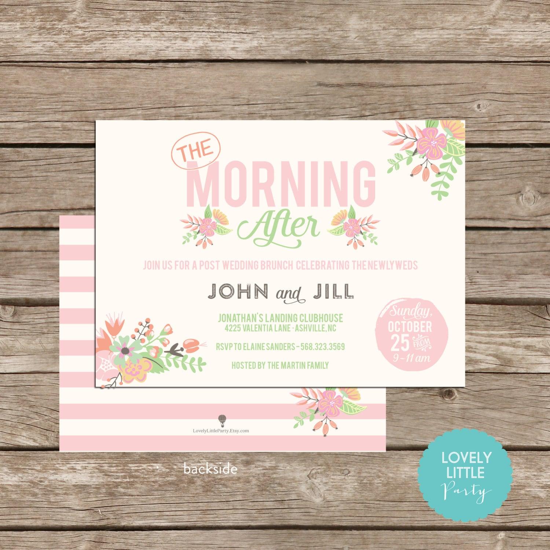 Classically Floral Post Wedding Breakfast Brunch Invitation