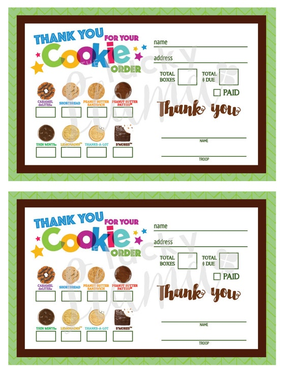 This is a graphic of Sassy Girl Scout Cookie Order Form Printable