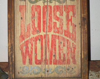 Bar Mancave Rustic Wooden Sign Beware Of Pickpockets Drunks And Loose Woment! #BV