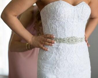 Bridal Belt, Wedding Belt, Sash Belt, Crystal Belt, Rhinestone Belt, Bridal Gown Belt, Wedding Sash Belt, Crystal Bridal Belt  B113.1S