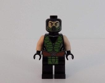 Mortal Kombat Reptile custom Minifigure printed on Lego Parts