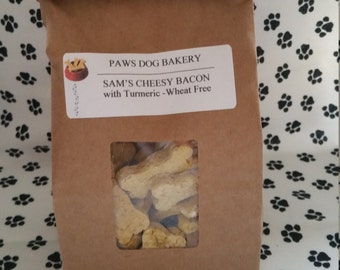 Sam's Cheesy Bacon with Tumeric - 100% All Natural, Healthy, Wheat Free and No Preservatives.