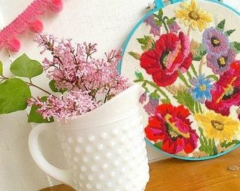 Got MILKglass... Vintage Small Sized White Hobnail Milk Glass Pitcher Vase Farmhouse Decor