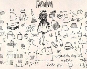 Fashion Sketch - 80+ Clothing Illustrations - Vector Graphics Bundle!