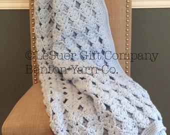 Crocheted Baby Blanket Medallion Design
