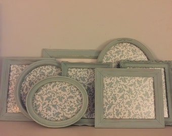Vintage, Cottage, Shabby Chic, Duckegg Blue Picture Frames
