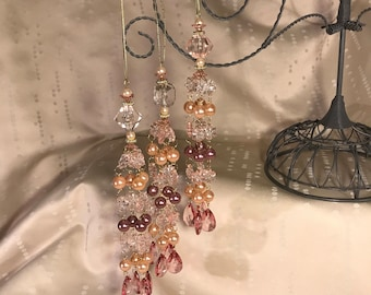 Elegant Beaded Pearl Ornaments