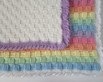 Crochet Pattern, Crochet Baby Blanket Pattern, Crochet Blanket Pattern, PDF Pattern, Crochet Afghan Pattern, Throw Blanket, BASKET WEAVE