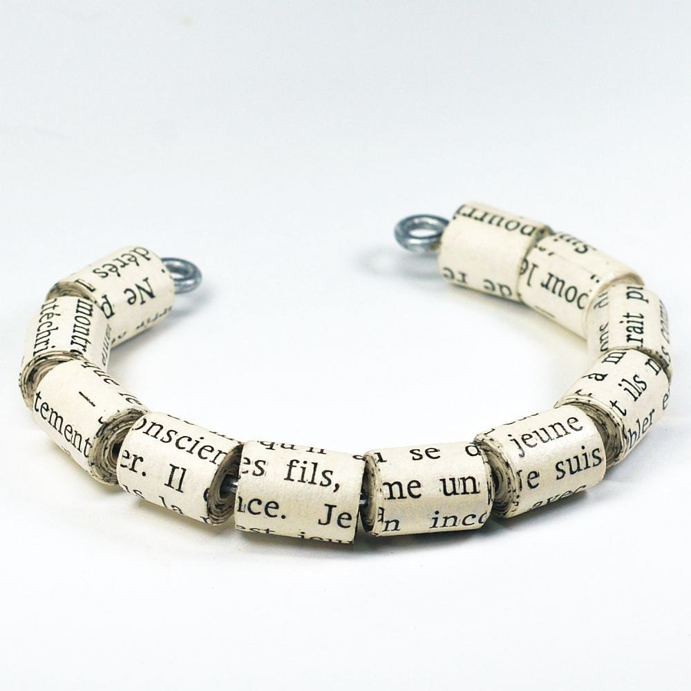Paper Bead Bracelet French Jewelry Paper Bead Jewelry Cuff