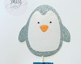 Penguin cake topper, penguin party, cake topper, winter wonderland cake topper