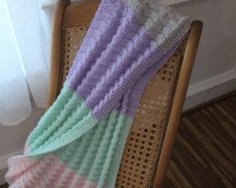 Knitting Pattern for Baby Blanket, Baby Blanket Patterns, Knit Pattern for Stroller Blanket, Lightweight Car Seat Blanket Pattern