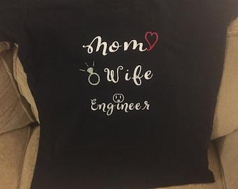 V-neck Mom Wife (Ocupuation) Shirt
