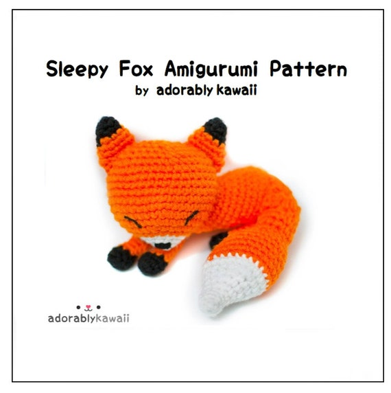 Sleepy Fox Amigurumi Pattern Fox Crochet Pattern PDF