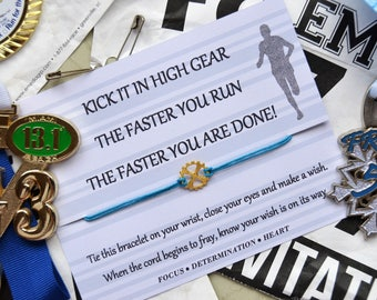 Runner Wish Bracelet, Wish Upon Your Wrist, Cross Country, 5k, Fun Run, Marathon, Triathlon, Exercise, Track, High School Team Sports, Gear