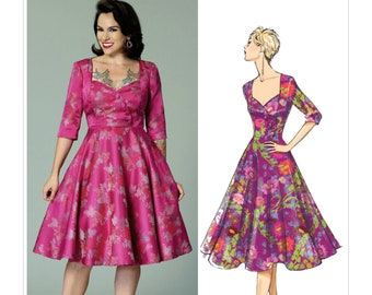 Butterick 6413-Pin up Dress,Misses' Sweetheart Neckline, Princess Seams,Gertie Pattern,Rockabilly 50's dress Size 6-14